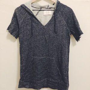 Madewell Hi-Line Grey Sweatshirt Tee in Size S